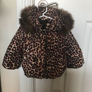 Baby Gap Animal Print puffer coat